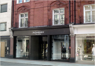 Yves Saint Laurent на Sloane street